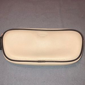 EUC Coach Glasses Case in Ivory Leather.